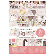 Buy Docrafts A4 Ultimate Die Cut and Paper Kit, Pack of 48, Mocha Online at johnlewis.com