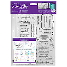 Buy Docrafts A5 Birthday Stamps, Pack of 39, Clear Online at johnlewis.com