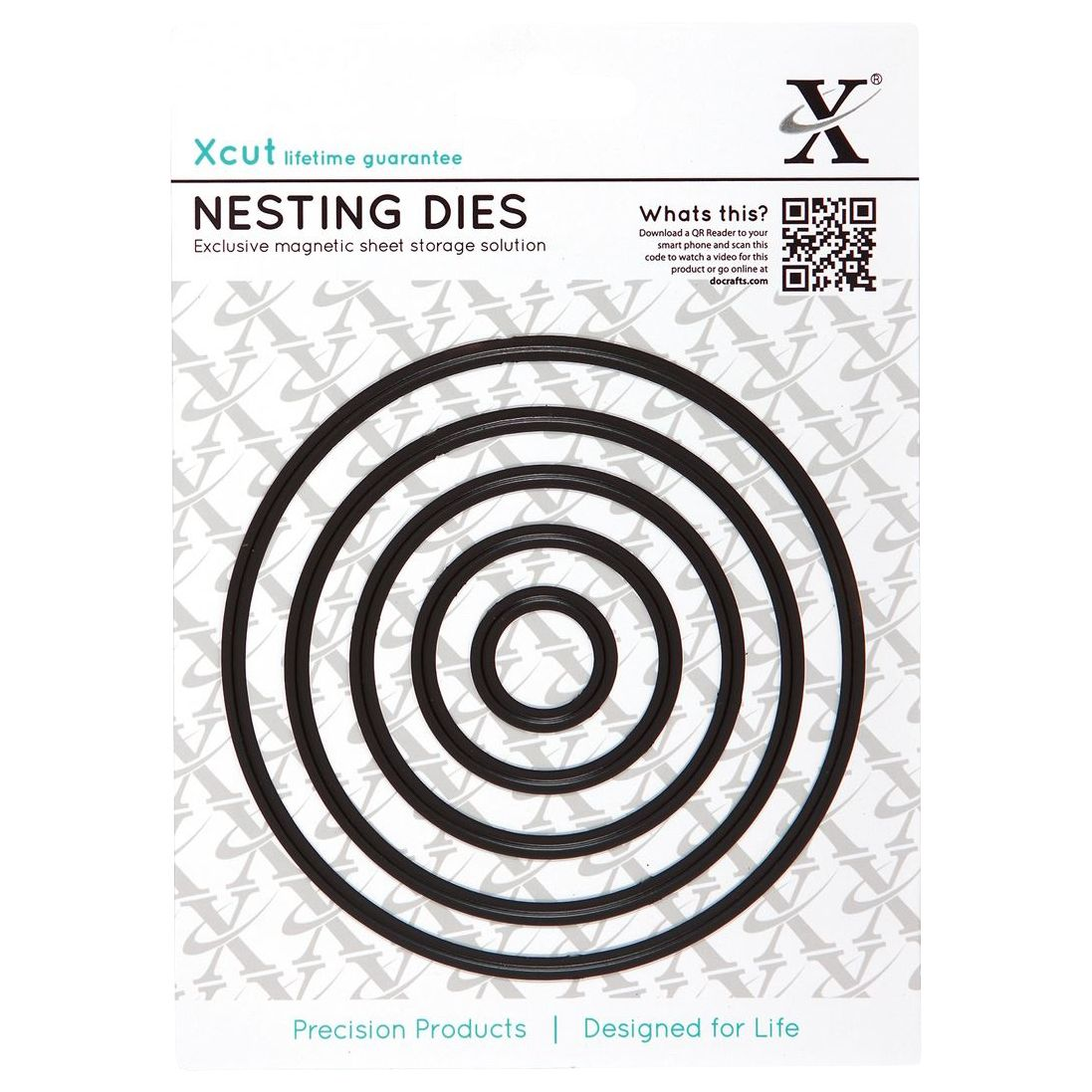 DoCrafts Docrafts Xcut Nesting Circle Dies, Pack of 5