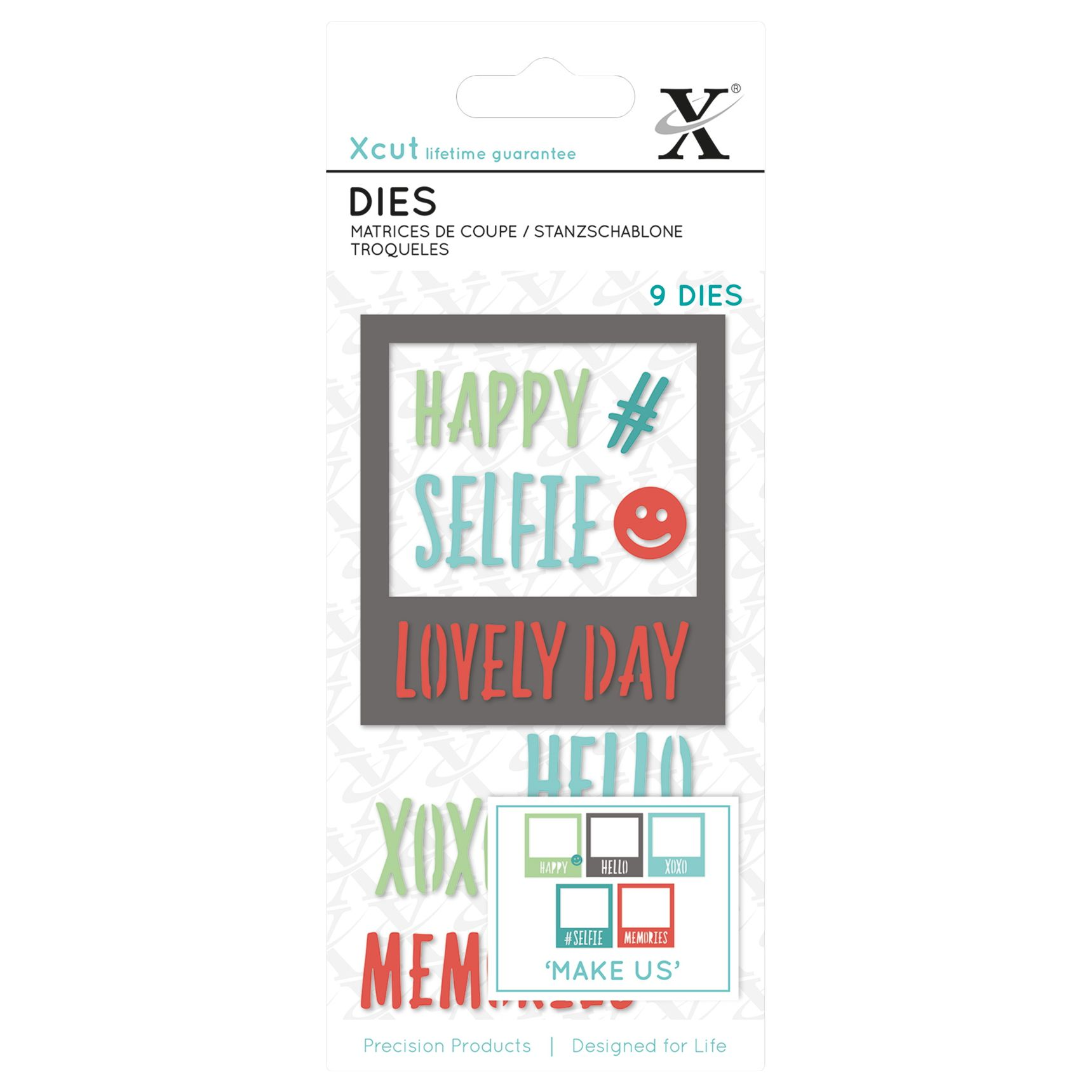 DoCrafts Docrafts Xcut Small Selfie Frame Dies, Pack of 9