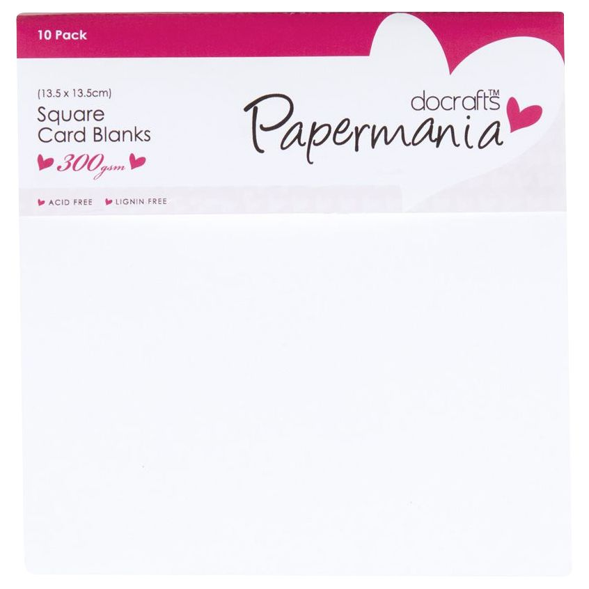 DoCrafts Docrafts Square Card Blanks, Pack of 10, White