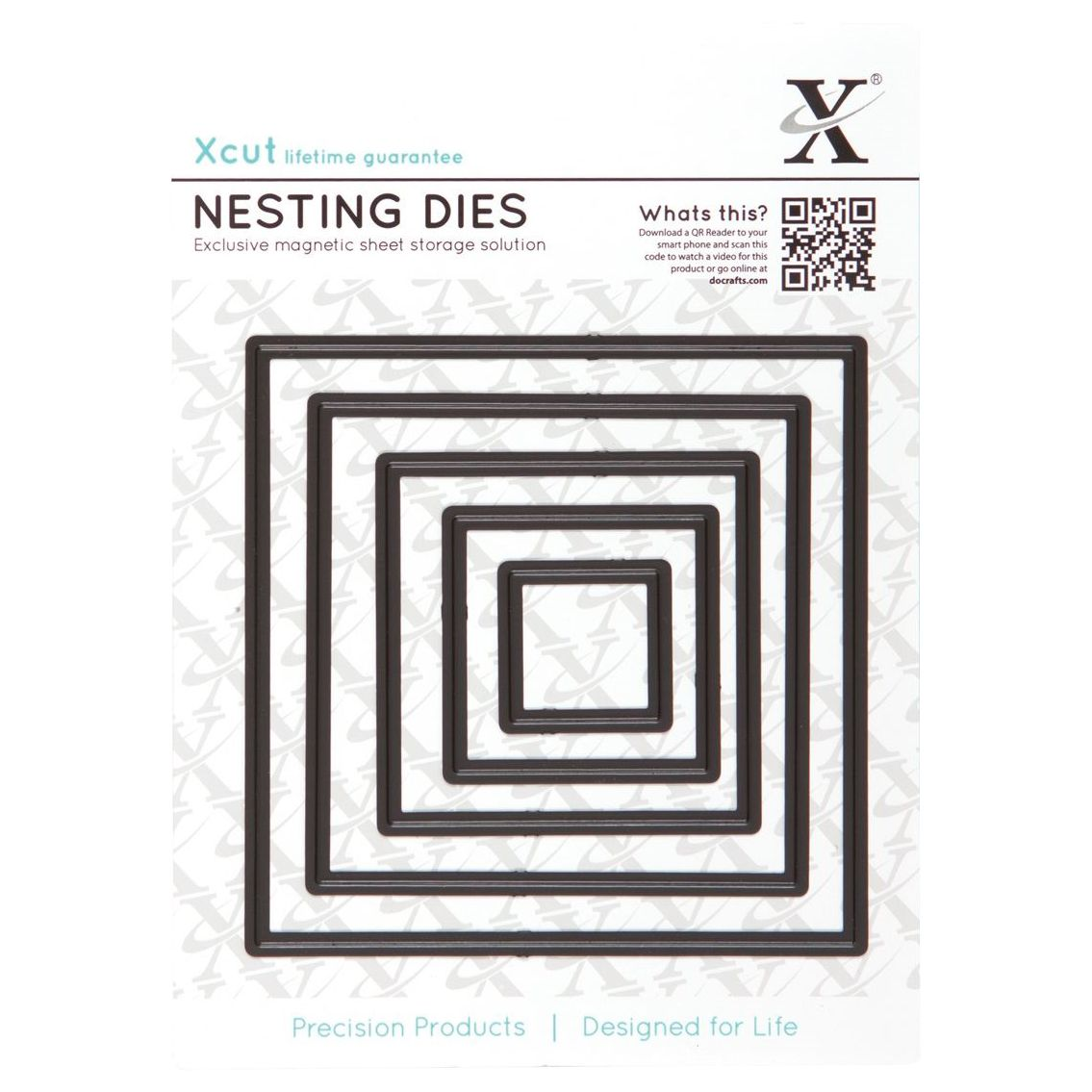 DoCrafts Docrafts Xcut Nesting Square Dies, Pack of 5