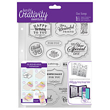Buy Docrafts A5 Traditional Sentiment Stamps, Pack of 18, Clear Online at johnlewis.com