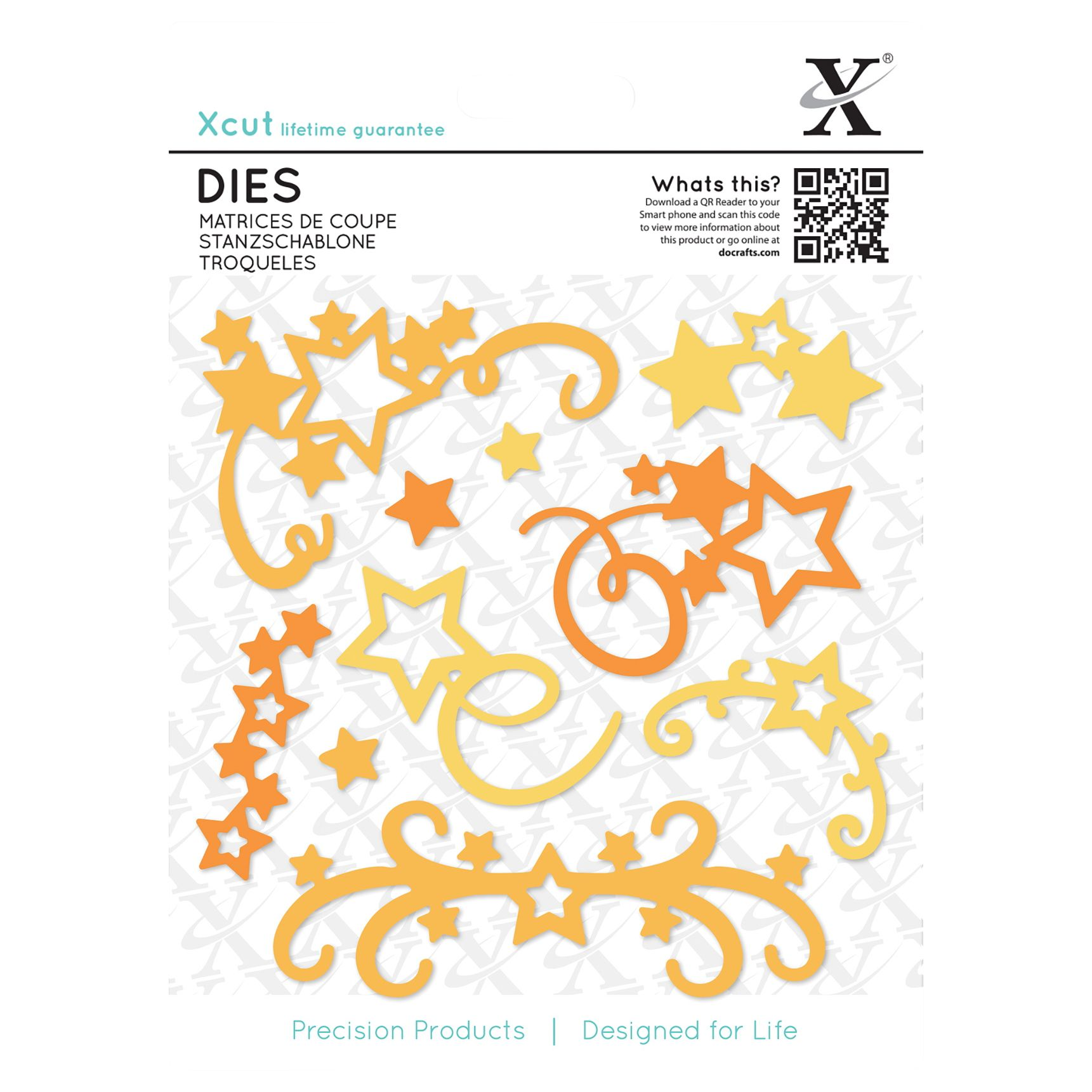 DoCrafts Docrafts Xcut Large Star Flourish Dies, Pack of 10
