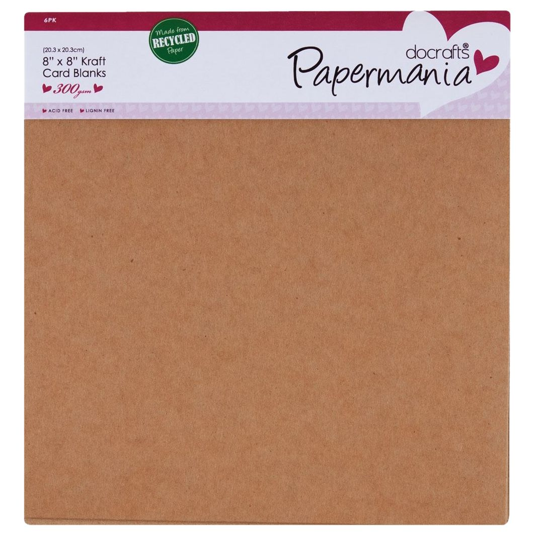 DoCrafts Docrafts Recycled Card and Envelope Blanks, Pack of 6, Brown