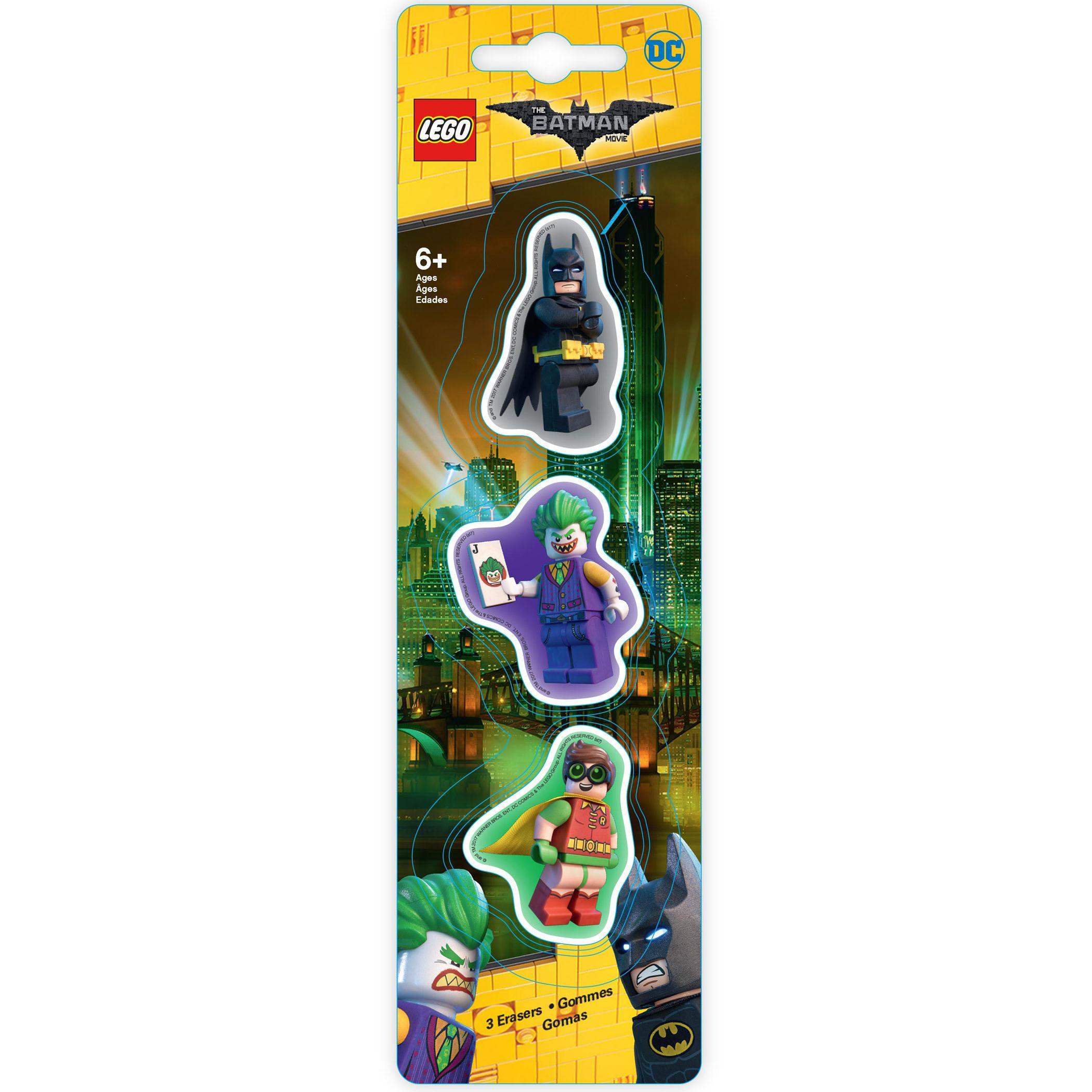 Lego LEGO The LEGO Batman Movie Erasers, Pack of 3
