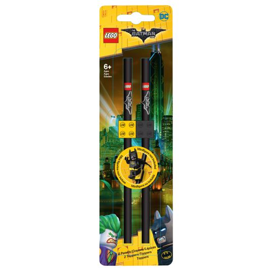 Lego LEGO The LEGO Batman Movie Pencils & Toppers, Pack of 2