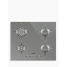 Buy Smeg PXL664 Dolce Stil Novo Gas Hob, Stainless Steel Online at johnlewis.com