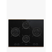 Buy Smeg PV664LCNR Dolce Stil Novo Gas Hob, Black/Copper Online at johnlewis.com