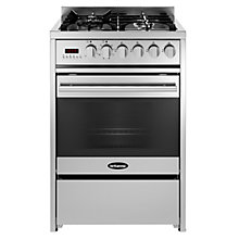 Buy Britannia RC-6SG-DE-S Delphi Professional Dual Fuel Range Cooker, Stainless Steel Online at johnlewis.com