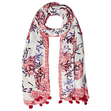 Buy White Stuff Silk Road Spot Scarf, Poppy Red Online at johnlewis.com