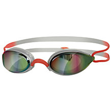 Buy Zoggs Fusion Air Gold Mirror Swimming Goggles, Silver/Red Online at johnlewis.com