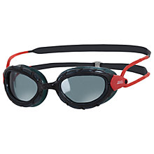 Buy Zoggs Predator Smoke Polarised Swimming Goggles, Black/Red Online at johnlewis.com