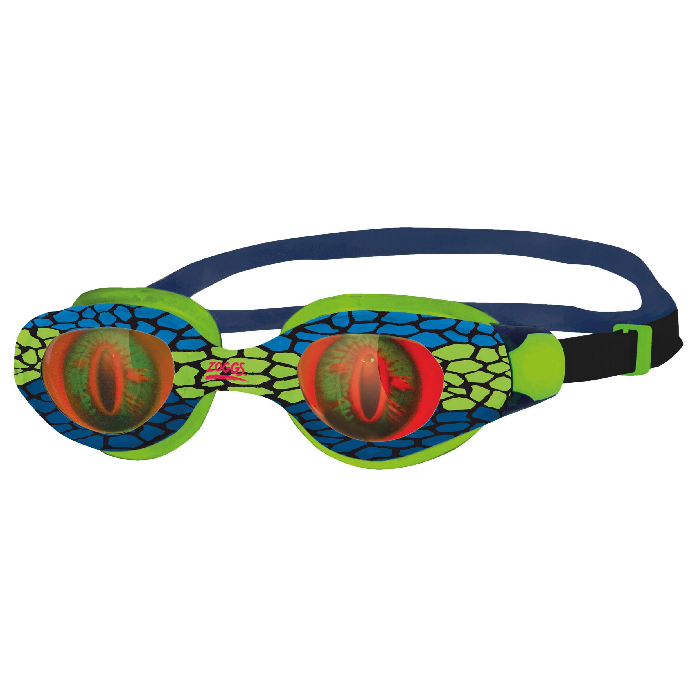Zoggs Zoggs Sea Demon Junior Swimming Goggles, Green/Blue