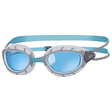 Buy Zoggs Predator Swimming Goggles, Silver/Red Online at johnlewis.com