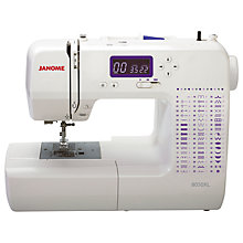 Buy Janome 8050XL Sewing Machine, White Online at johnlewis.com
