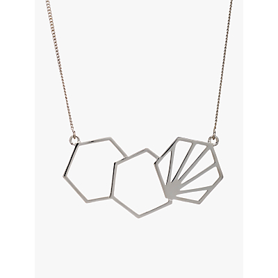 Rachel Jackson London 3 Hexagon Necklace