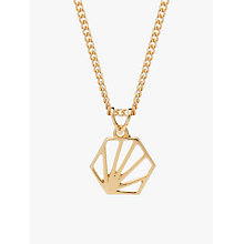 Buy Rachel Jackson London Small Hexagon Pendant Necklace Online at johnlewis.com
