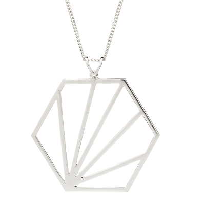 Rachel Jackson London Large Hexagon Pendant Necklace
