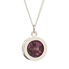 Buy Rachel Jackson London Sterling Silver Round Birthstone Pendant Necklace Online at johnlewis.com