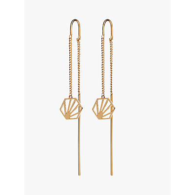 Rachel Jackson London Hexagon Chain Drop Earrings