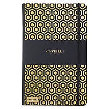 Buy Castelli Honeycomb A5 Notebook, Gold Online at johnlewis.com