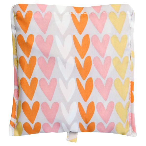 Caroline Gardner Caroline Gardner Hearts Foldaway Shopper Bag, Multi