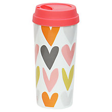 Buy Caroline Gardner Hearts Thermal Mug, Multi Online at johnlewis.com