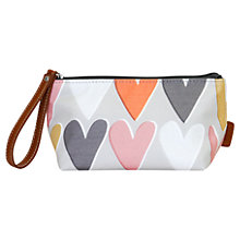 Buy Caroline Gardner Hearts Cosmetic Bag, Small, Grey Online at johnlewis.com
