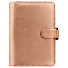 Buy Filofax Saffiano Special Edition Personal Organiser, Rose Gold Online at johnlewis.com