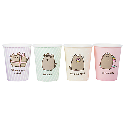 Pusheen Paper Cups, Pack of 8
