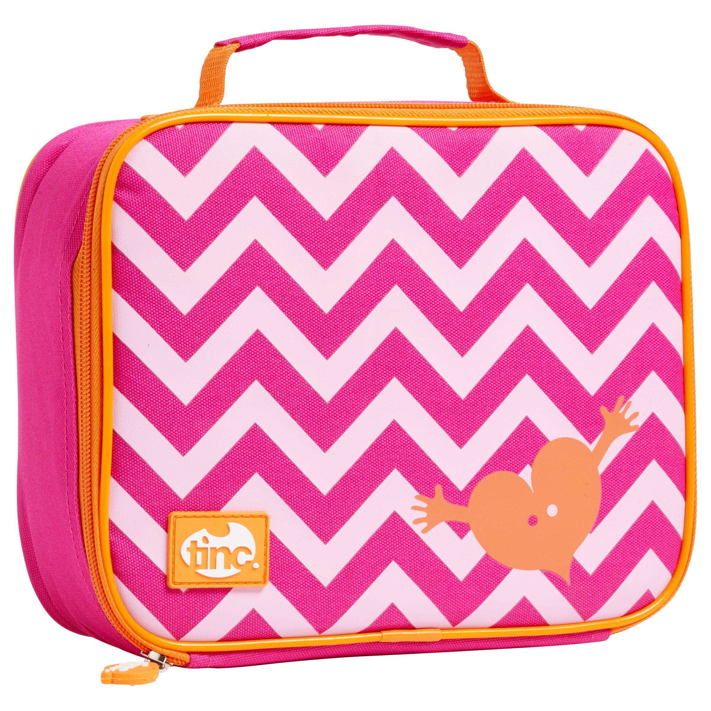 Tinc Tinc Geometric Lunchbox, Pink / Orange