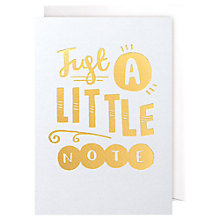 Buy Lagom Designs Just A Little Note Notecards, Pack of 5 Online at johnlewis.com