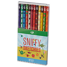 Buy Tinc Sniffy Sketchies Pencils, Set of 12 Online at johnlewis.com