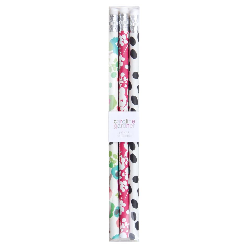 Caroline Gardner Caroline Gardner Ditsy Pencils, Pack of 6