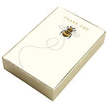 Buy Art File Bee Thank You Notecards, Box of 10 Online at johnlewis.com
