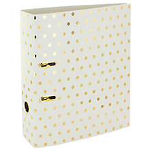 Buy Go Stationary Shimmer Effect Lever Arch Online at johnlewis.com