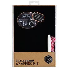 Buy Talking Tables Chalk Board Wrapping Paper Kit Online at johnlewis.com