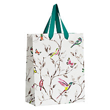Buy John Lewis Hummingbird Small Gift Bag, Yellow Online at johnlewis.com