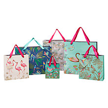 Buy Sara Miller Birds Gift Bag, Medium, Green Online at johnlewis.com