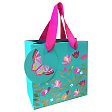Buy Sara Miller Tulips and Butterfly Gift Bag, Small, Green Online at johnlewis.com