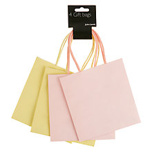 Buy John Lewis Gift Bags, Yellow / Pink, Pack of 4 Online at johnlewis.com