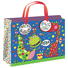 Buy Rachel Ellen Dinosaur Gift Bag, Large Online at johnlewis.com
