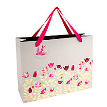 Buy Sara Miller Tulips Shopper Gift Bag, Grey / Pink Online at johnlewis.com