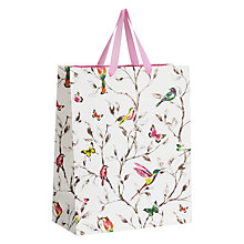 Buy John Lewis Hummingbird Medium Gift Bag, Pink Online at johnlewis.com