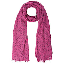Buy White Stuff Flocked Heart Scarf, Apfel Pink Online at johnlewis.com