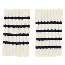 Buy Jigsaw Breton Stripe Mittens, Cream Online at johnlewis.com