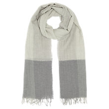 Buy Jigsaw Oversized Border Scarf, Grey Online at johnlewis.com