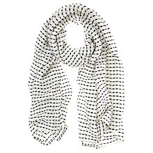 Buy Mint Velvet Stab Stitch Stripe Scarf, Ivory Online at johnlewis.com