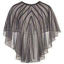 Buy Chesca Beaded Mesh Cape, Dark Grey Online at johnlewis.com